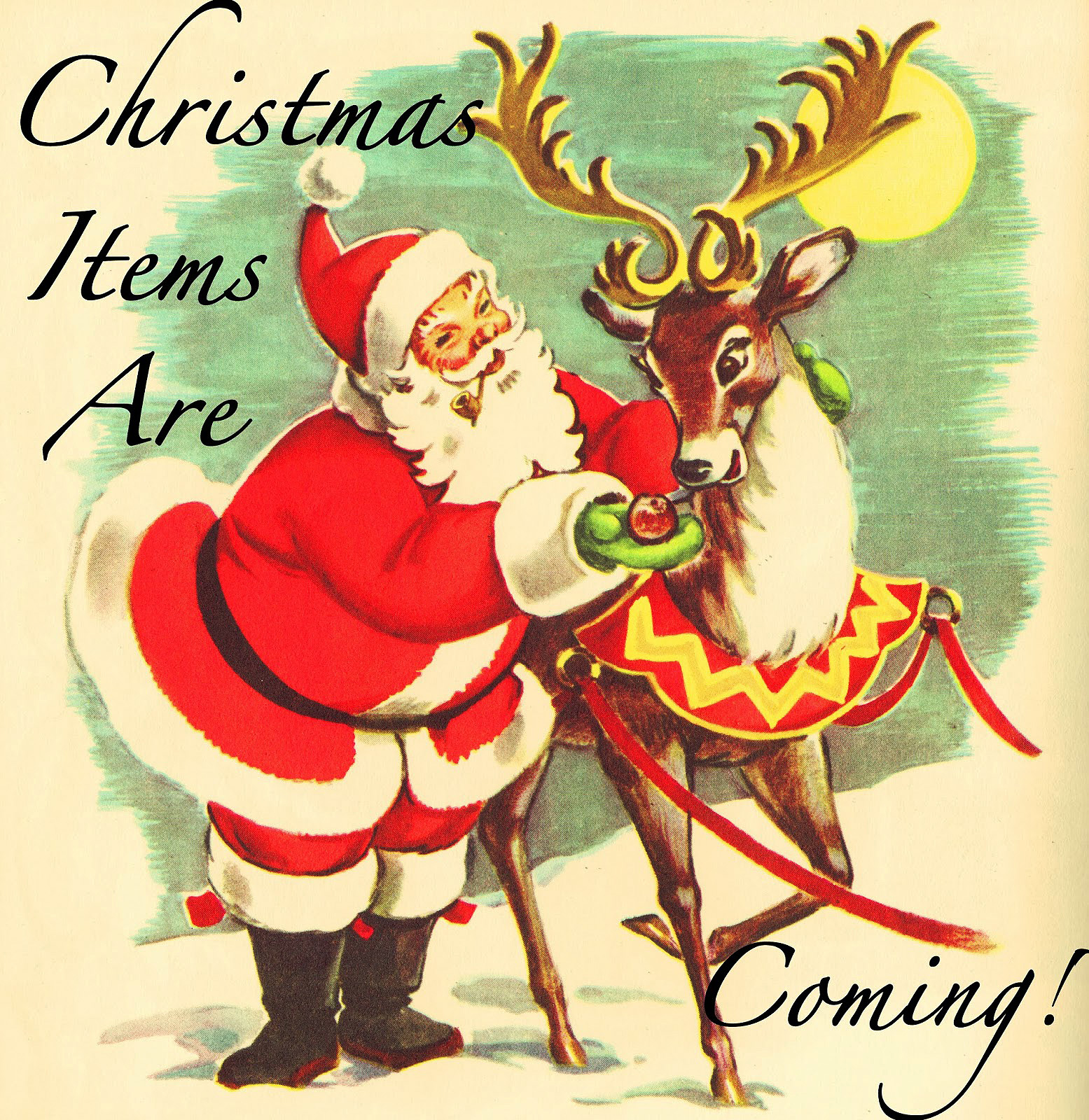 レトロで可愛いクリスマス用イラスト無料素材 Ramica