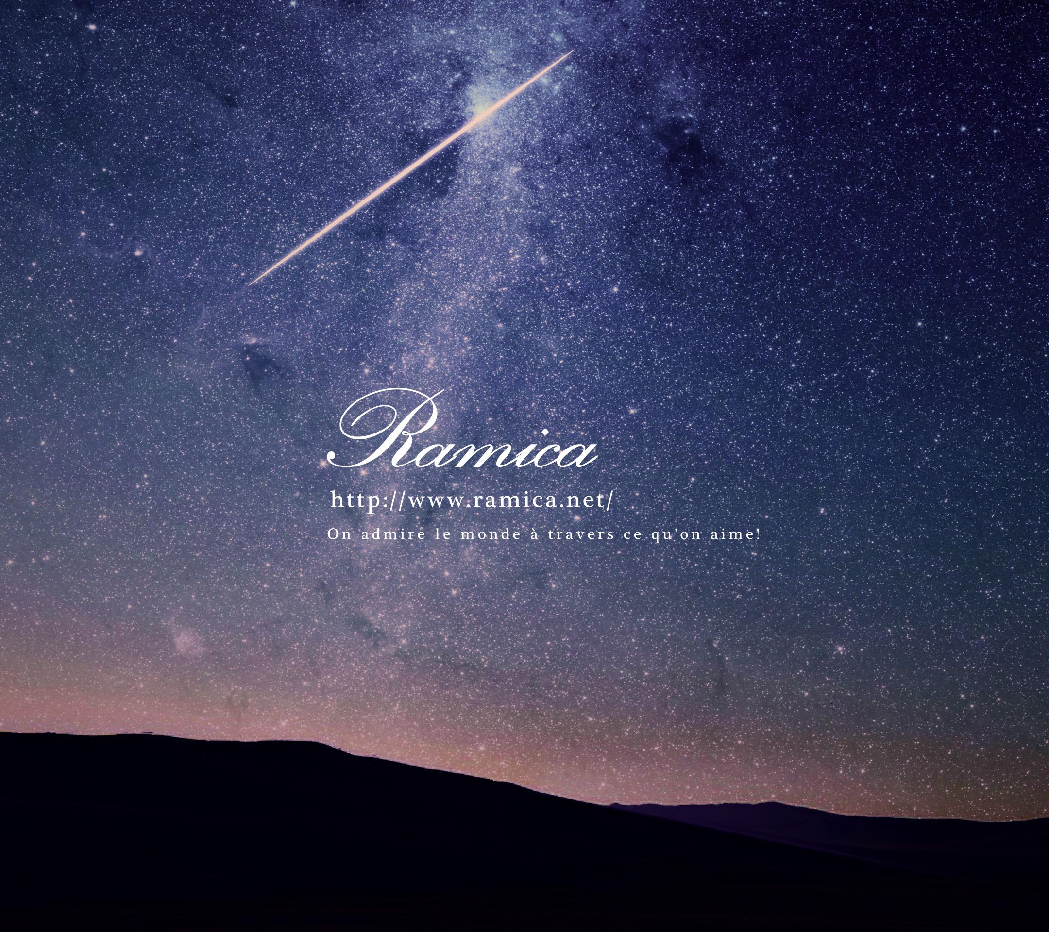 Android アンドロイド用無料壁紙ダウンロード 夜の星空と流星 Ramica