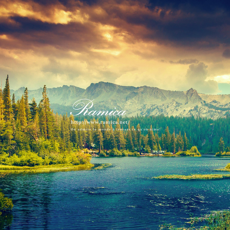 Ipad タブレット用無料壁紙ダウンロード 壮大な自然と湖 Ramica