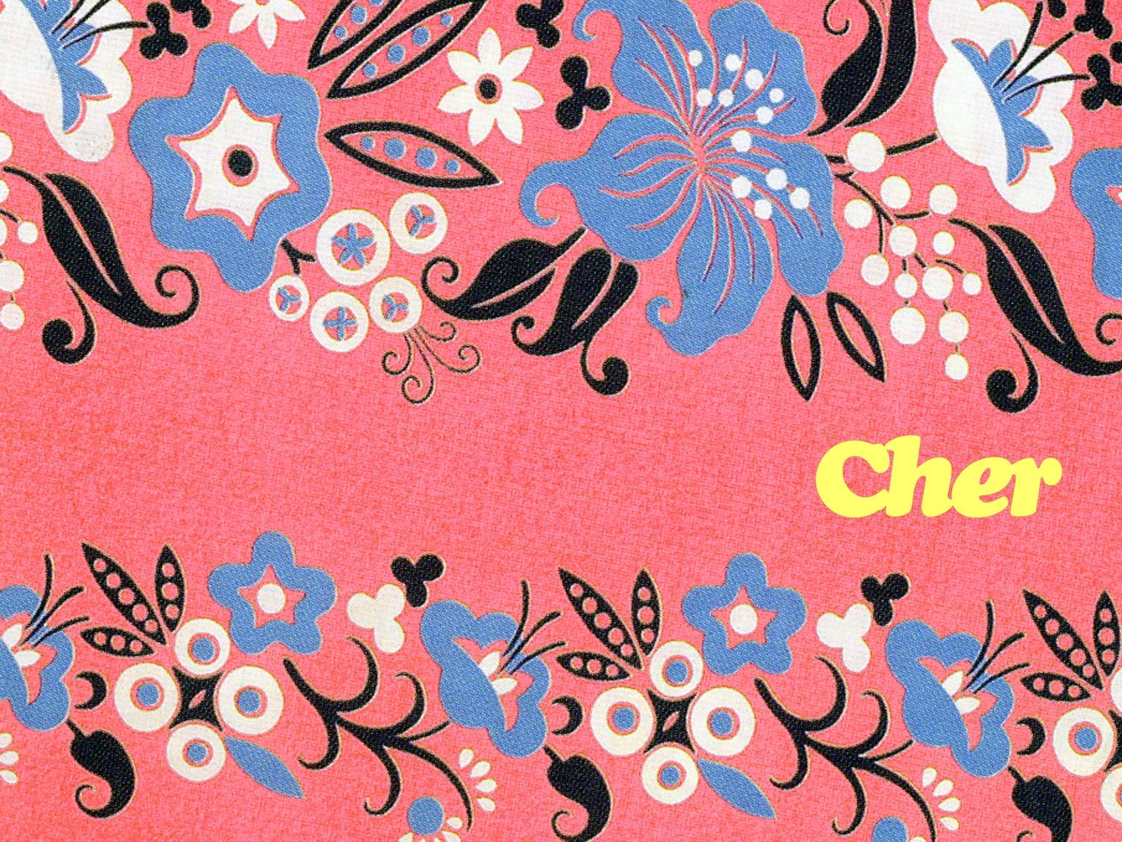 可愛いピンク色の柄模様壁紙 Ramica