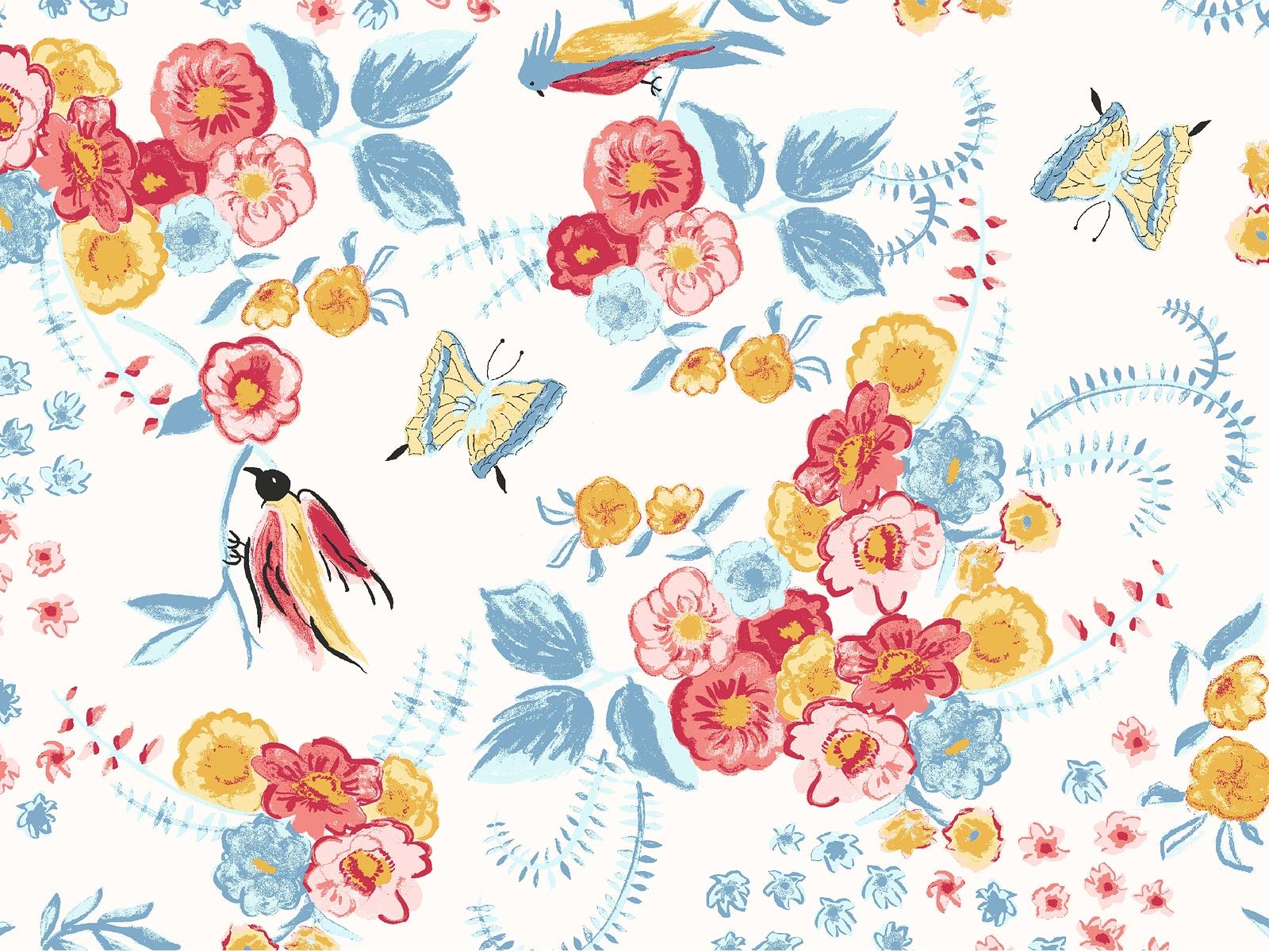 ガーリーなイラストデザインの壁紙 Ramica